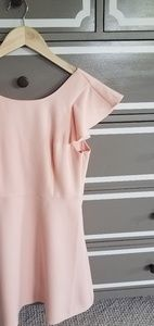 BCBG generation pale pink dress ruffle sleeve